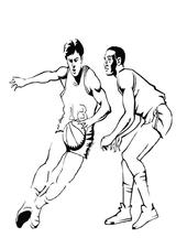 Imprimer le coloriage : Basketball, numéro 459908