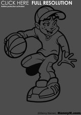 Imprimer le coloriage : Basketball, numéro 469831