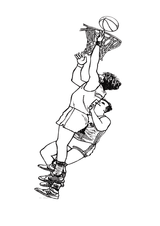Imprimer le coloriage : Basketball, numéro 469832