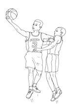 Imprimer le coloriage : Basketball, numéro 469834