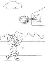 Imprimer le coloriage : Basketball, numéro 487890