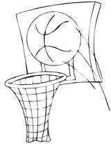 Imprimer le coloriage : Basketball, numéro 496432