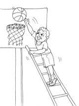 Imprimer le coloriage : Basketball, numéro 585465