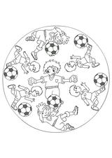 Imprimer le dessin en couleurs : Football, numéro 464598