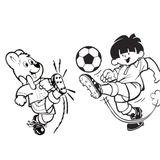 Imprimer le dessin en couleurs : Football, numéro 464630