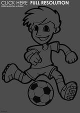 Imprimer le dessin en couleurs : Football, numéro 487240