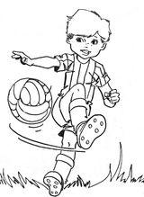 Imprimer le coloriage : Football, numéro 57502
