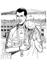 Imprimer le coloriage : Football, numéro 758767