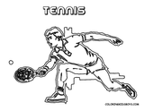 Imprimer le coloriage : Tennis, numéro 18b4c796