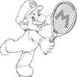 Imprimer le coloriage : Tennis, numéro 4491ca89