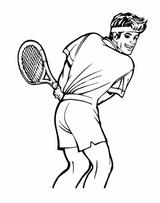 Imprimer le coloriage : Tennis, numéro 460000