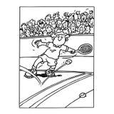 Imprimer le coloriage : Tennis, numéro 460004