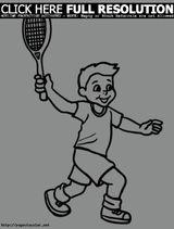 Imprimer le dessin en couleurs : Tennis, numéro 689730