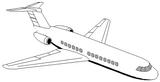 Imprimer le coloriage : Avion, numéro 128742