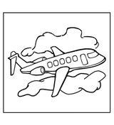 Imprimer le coloriage : Avion, numéro 128754
