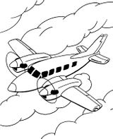 Imprimer le coloriage : Avion, numéro 128755