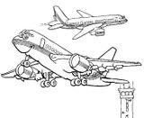 Imprimer le coloriage : Avion, numéro 128757