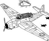 Imprimer le coloriage : Avion, numéro 128759