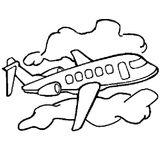 Imprimer le coloriage : Avion, numéro 146132