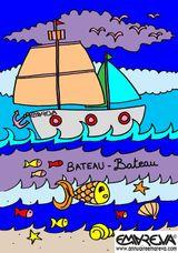 Imprimer le dessin en couleurs : Bateau, numéro 10786