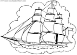 Imprimer le coloriage : Bateau, numéro 1693
