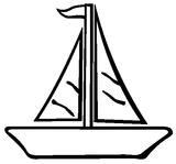 Imprimer le coloriage : Bateau, numéro 180831