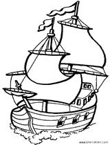 Imprimer le coloriage : Bateau, numéro 1837
