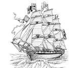 Imprimer le coloriage : Bateau, numéro 1848