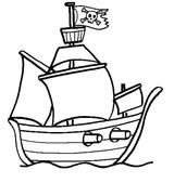 Imprimer le coloriage : Bateau, numéro 188465c1