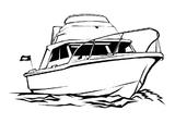 Imprimer le coloriage : Bateau, numéro 6278