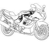 Imprimer le coloriage : Moto, numéro 16915