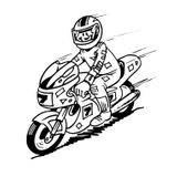 Imprimer le coloriage : Moto, numéro 3843