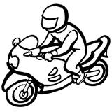 Imprimer le coloriage : Moto, numéro 3851