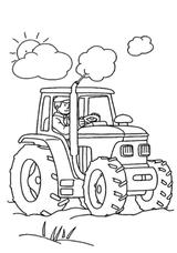 Imprimer le coloriage : Tracteur, numéro 128659