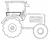 Imprimer le coloriage : Tracteur, numéro 128660