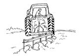 Imprimer le coloriage : Tracteur, numéro 128662