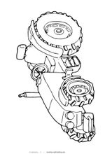 Imprimer le coloriage : Tracteur, numéro 128668
