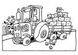 Imprimer le coloriage : Tracteur, numéro 146063