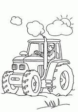 Imprimer le coloriage : Tracteur, numéro 1497575e
