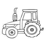 Imprimer le coloriage : Tracteur, numéro 1502c494