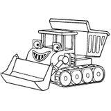 Imprimer le coloriage : Tracteur, numéro 16976
