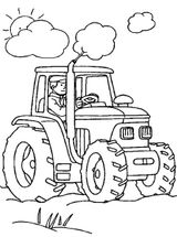 Imprimer le coloriage : Tracteur, numéro 18169