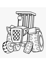 Imprimer le coloriage : Tracteur, numéro 249660
