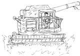 Imprimer le coloriage : Tracteur, numéro 3720