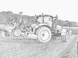 Imprimer le coloriage : Tracteur, numéro 53746