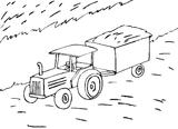 Imprimer le coloriage : Tracteur, numéro 7357