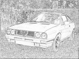 Imprimer le coloriage : Alfa Romeo, numéro 105418