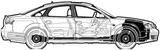 Imprimer le coloriage : Audi, numéro 105512