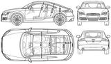 Imprimer le coloriage : Audi, numéro 105513