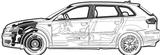 Imprimer le coloriage : Audi, numéro 105518
